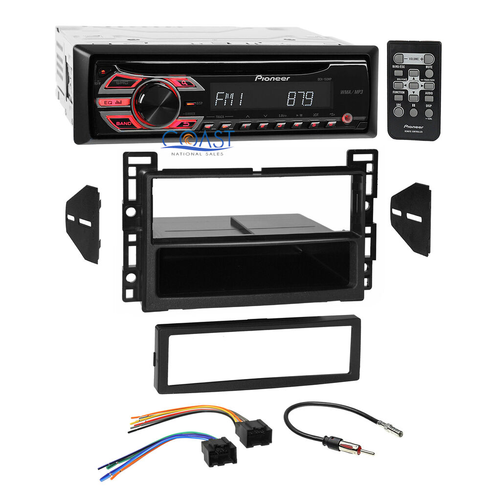 hight resolution of details about pioneer cd mp3 aux stereo single din dash kit harness for 06 07 saturn ion vue