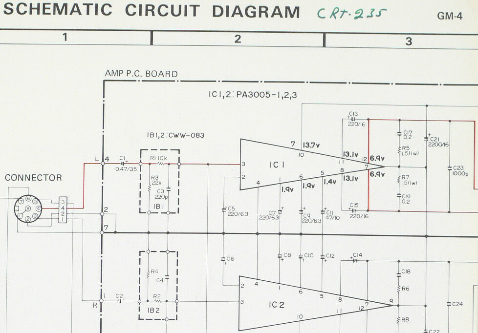 Pioneer GM-4 Original Power Amplifier service-circuit