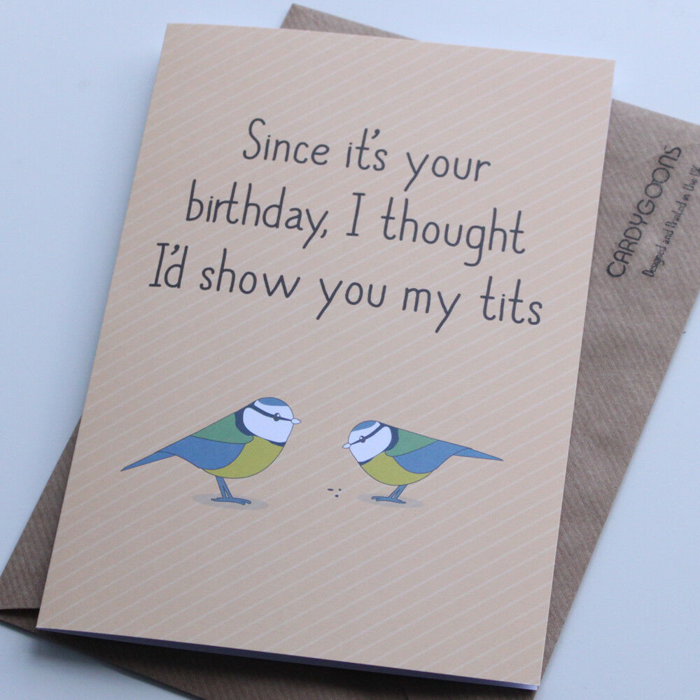 Funny Birthday Card Boyfriend Husband Rude Humour Card