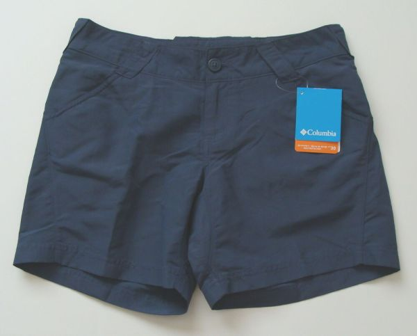 Nwt Columbia Women' Omni-shade Coral Compass Shorts Size
