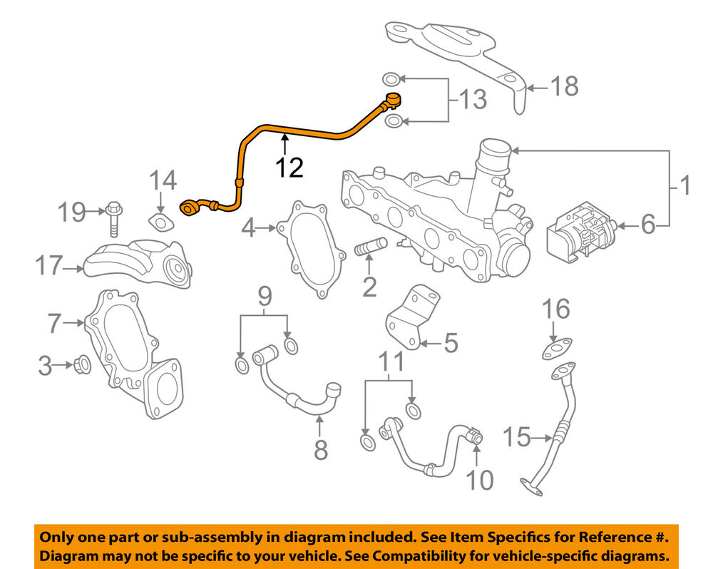 hight resolution of details about kia oem 11 12 sportage turbocharger turbo oil inlet tube 282402g400