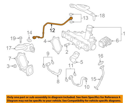 small resolution of details about kia oem 11 12 sportage turbocharger turbo oil inlet tube 282402g400