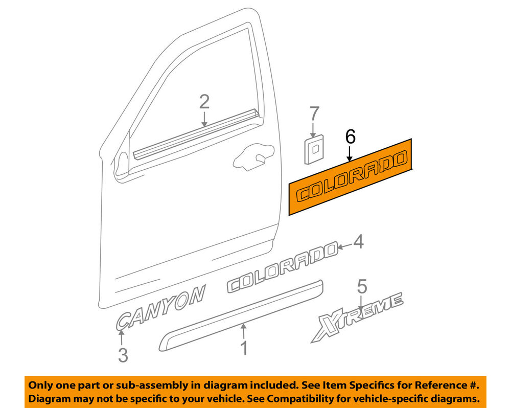 hight resolution of details about chevrolet gm oem 2005 colorado front door decal sticker 15207234