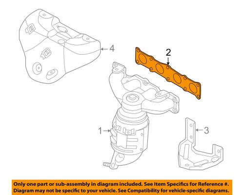 small resolution of details about hyundai oem 06 15 sonata exhaust manifold gasket 2852125020