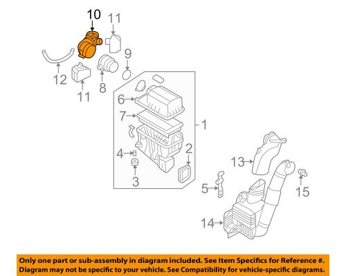 small resolution of details about hyundai oem 07 08 entourage air cleaner intake hose duct tube 281304d200