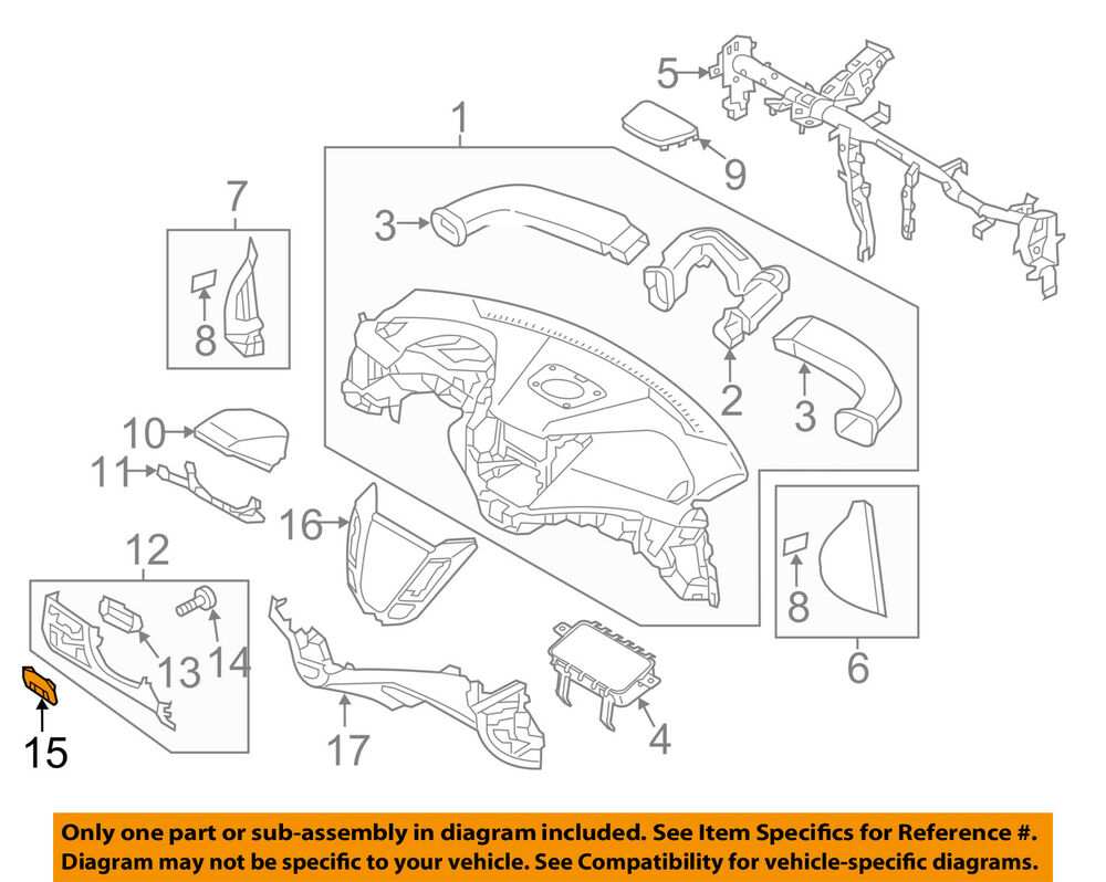 hight resolution of details about hyundai oem 15 17 veloster instrument panel dash fuse box cover 847552v022ry
