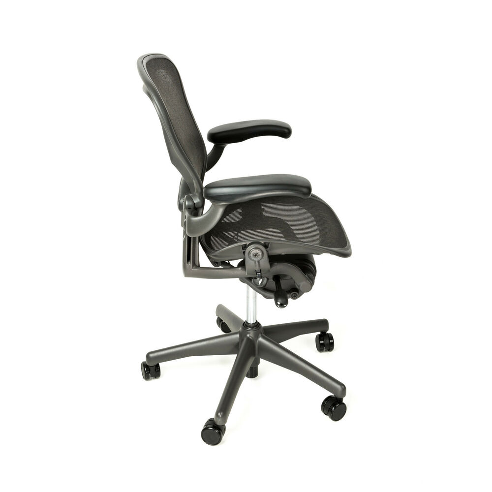 Herman Miller Office Chair Herman Miller Aeron Size B Office Chair With Free Hardwood Floor Mat 743724377743 Ebay
