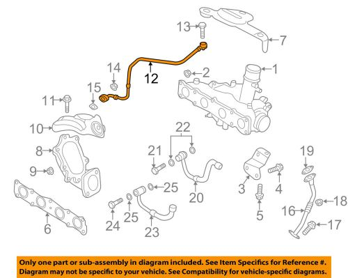 small resolution of details about hyundai oem 11 14 sonata turbocharger turbo oil feed tube 282402g411
