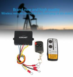 details about 50ft 12v electric wireless remote control for truck jeep atv winch capstan [ 1000 x 1000 Pixel ]