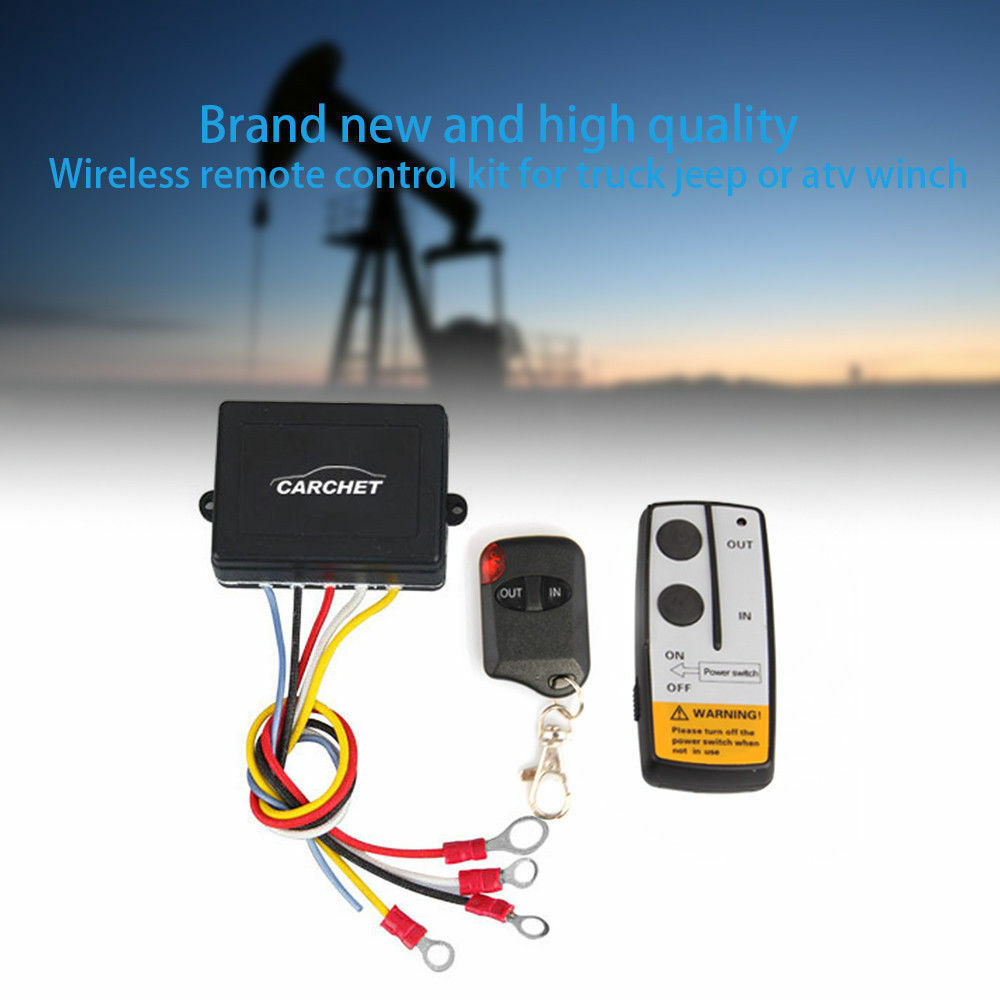 medium resolution of details about 50ft 12v electric wireless remote control for truck jeep atv winch capstan
