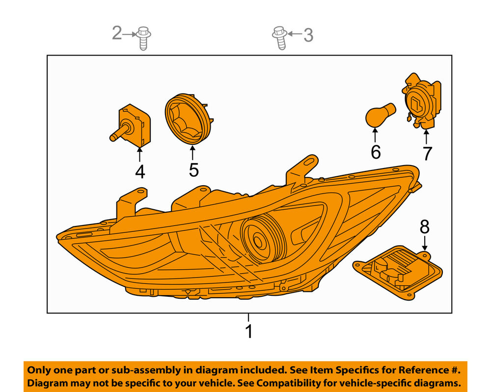 hight resolution of details about hyundai oem 17 18 elantra headlight assembly 92102f2420