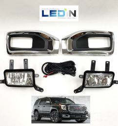details about fog light kit for 15 18 gmc yukon wire harness switch chrome bezel left right xl [ 1000 x 1000 Pixel ]