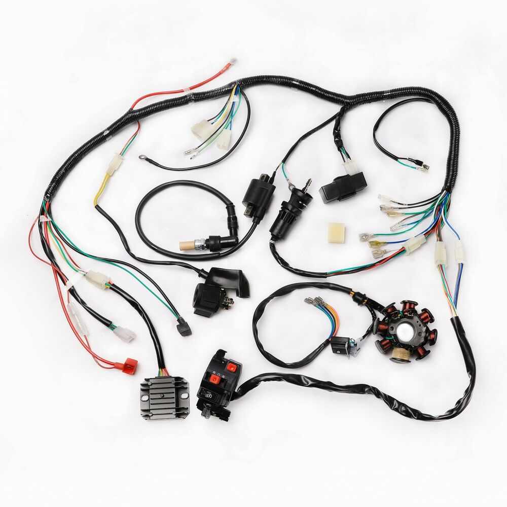 medium resolution of details about motorcycle complete electrics quad 200 250cc zongshen coil wire harness cdi
