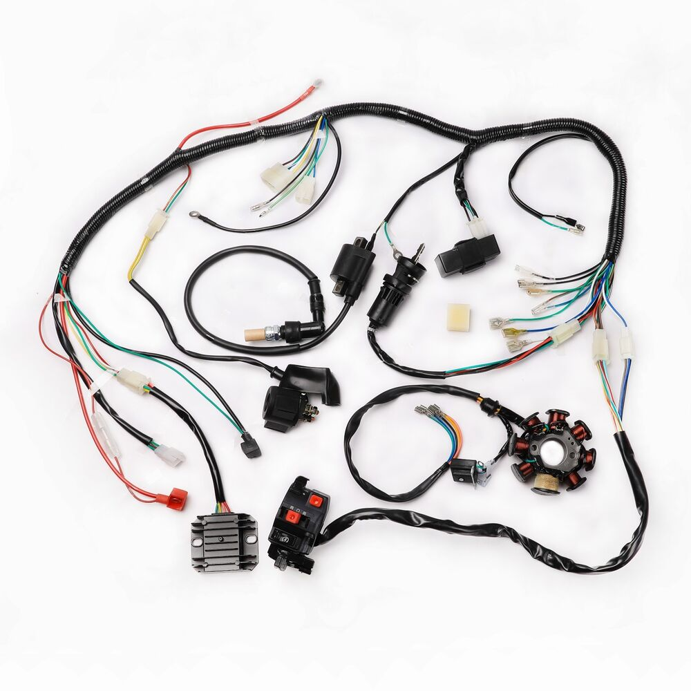 hight resolution of details about motorcycle complete electrics quad 200 250cc zongshen coil wire harness cdi