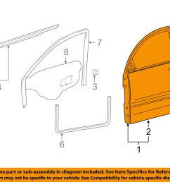 details about hyundai oem 02 05 xg350 front door shell frame panel right 7600439102 [ 1000 x 798 Pixel ]
