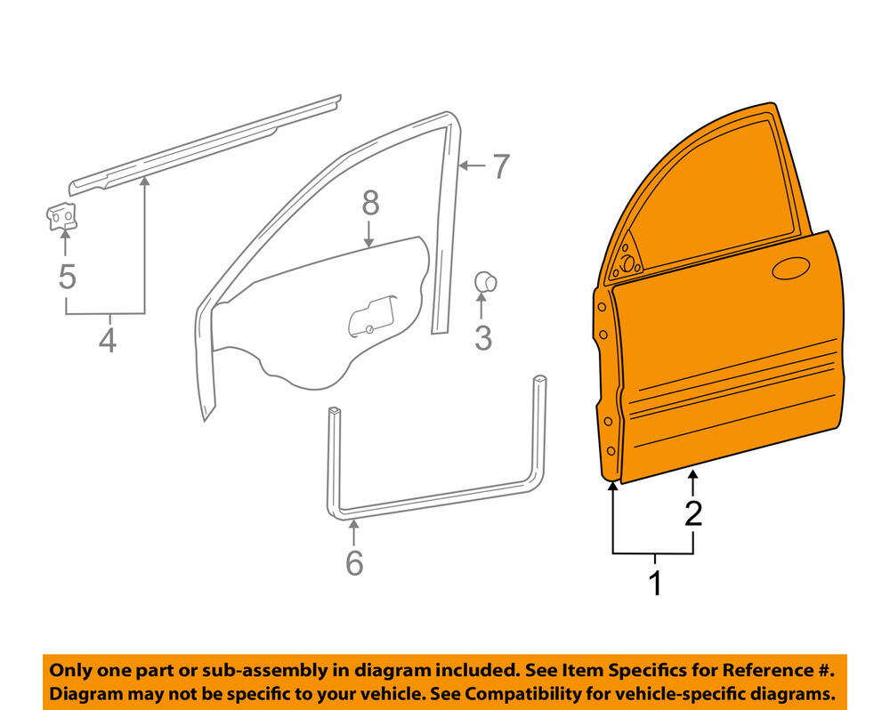 hight resolution of details about hyundai oem 02 05 xg350 front door shell frame panel right 7600439102