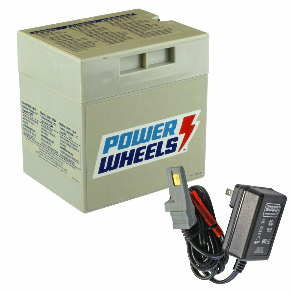 hight resolution of details about power wheels 12v gray battery with charger gry12vpow kit