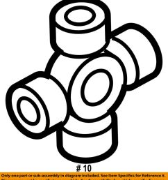 details about ford oem f 350 super duty carrier front axle universal joint u joint 5c3z3249aa [ 899 x 1000 Pixel ]