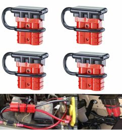 details about 4pcs battery quick connect kit 50a wire harness plug disconnect winch trailer f [ 1000 x 1000 Pixel ]