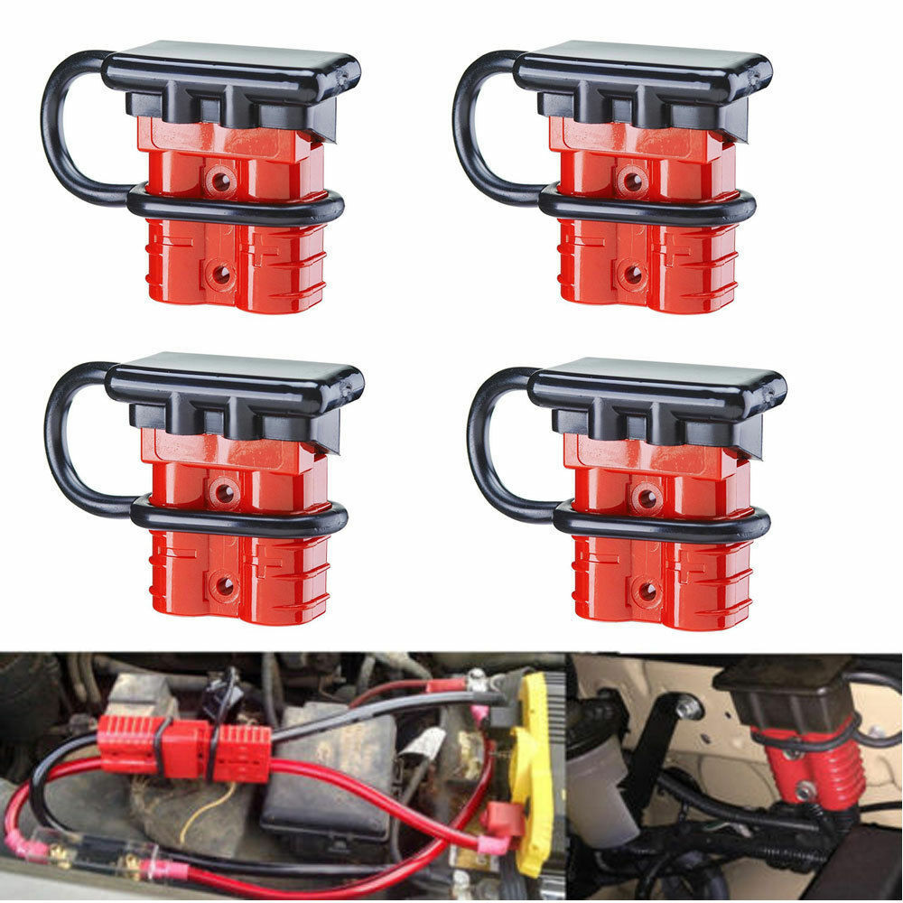 medium resolution of details about 4pcs battery quick connect kit 50a wire harness plug disconnect winch trailer f