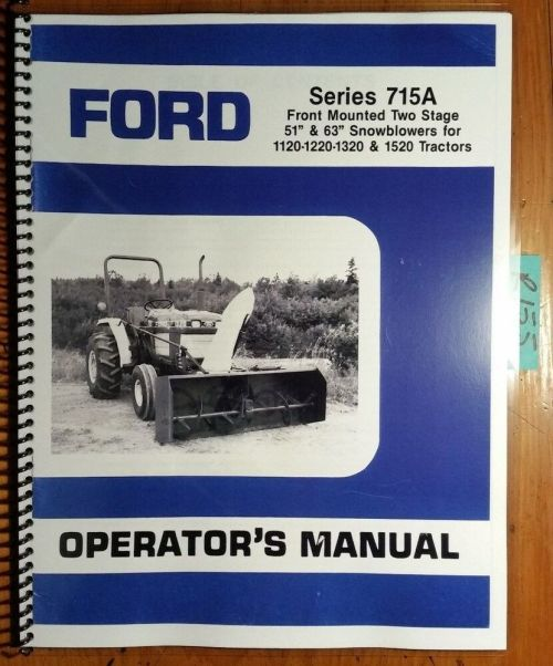 small resolution of ford series 715a two 2 stage 51 63 snowblower for 1120 1220 1320 1520 manual ebay