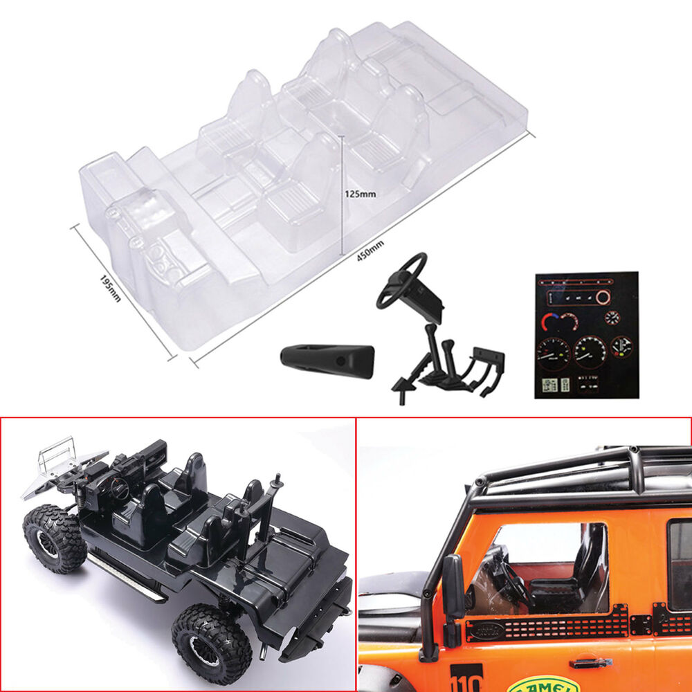 hight resolution of details about car interior decoration transparent body shell for traxxas trx4 defender d110 rc