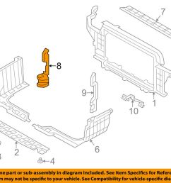 details about hyundai oem 12 13 veloster radiator core support air guide right 291342v500 [ 1000 x 798 Pixel ]
