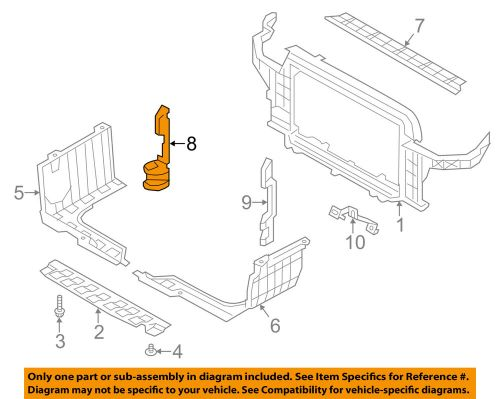 small resolution of details about hyundai oem 12 13 veloster radiator core support air guide right 291342v500