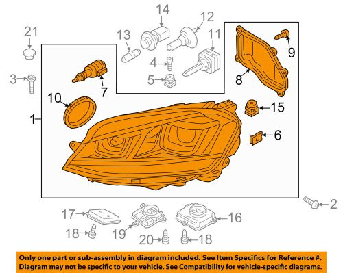 small resolution of details about vw volkswagen oem 15 16 gti headlight head light headlamp assy 5gm941754a