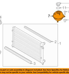 details about vw volkswagen oem radiator coolant overflow tank recovery bottle 1k0121407a [ 1000 x 798 Pixel ]