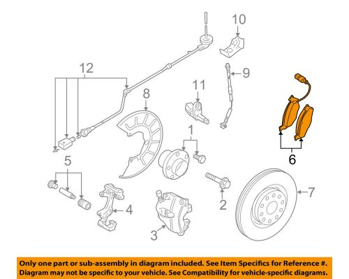 small resolution of details about vw volkswagen oem 05 14 jetta brake front pads 3c0698151d
