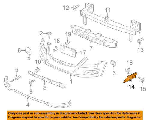 small resolution of details about vw volkswagen oem 12 17 tiguan front bumper guide left 5n0807183d