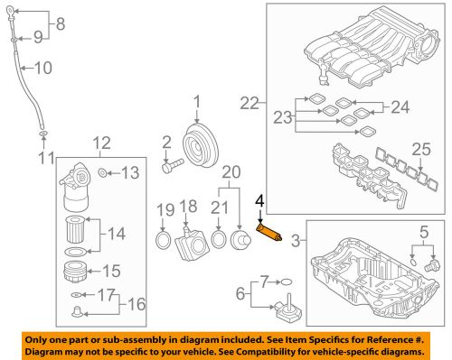 small resolution of details about vw volkswagen oem 11 17 touareg engine parts oil pan sealer d154103a1