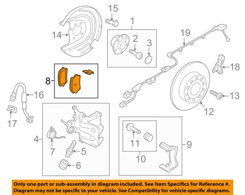 small resolution of details about vw volkswagen oem 15 18 passat brake rear pads 7n0698451a