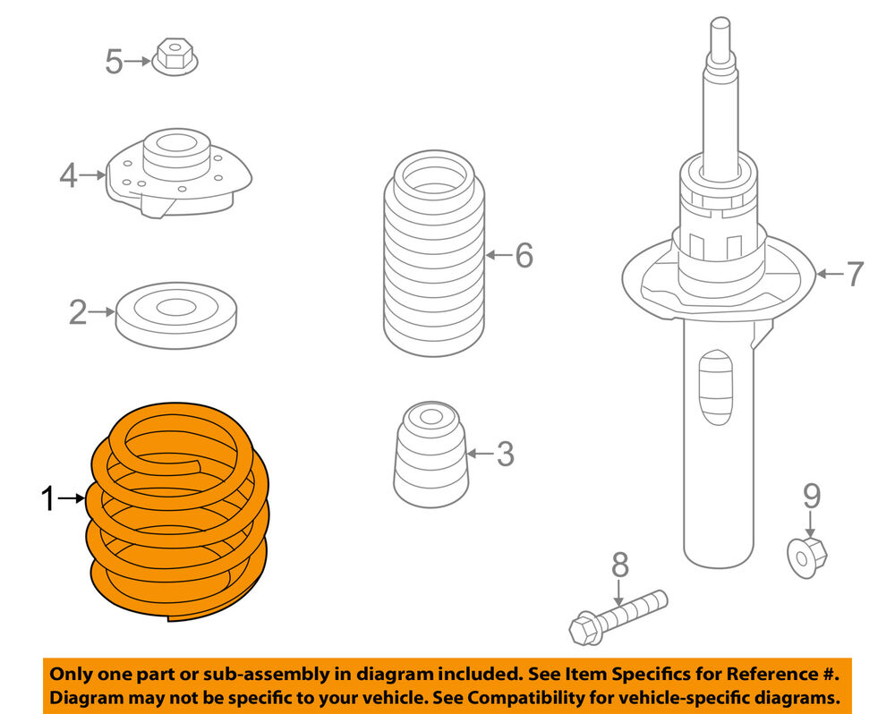 hight resolution of vw volkswagen oem 05 10 jetta front suspension coil spring jetta front suspension and coil spring parts diagram car parts