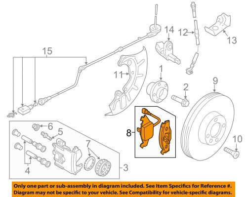 small resolution of details about vw volkswagen oem 11 15 jetta brake front pads 5c0698151