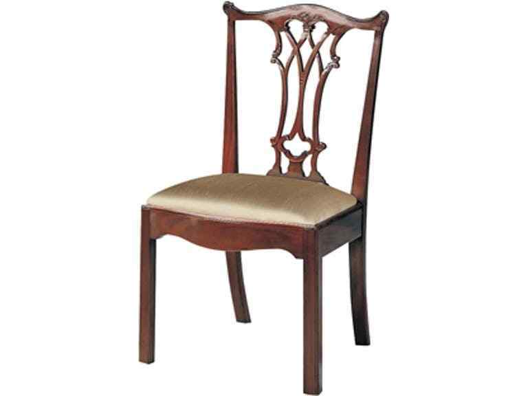 maitland smith dining chairs blue wing back chair 4 carved polished mahogany chippendale details about 4031 187