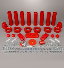 details about 1959 1965 volkswagen beetle ghia red urethane suspension bushing kit 308037 [ 1000 x 1000 Pixel ]