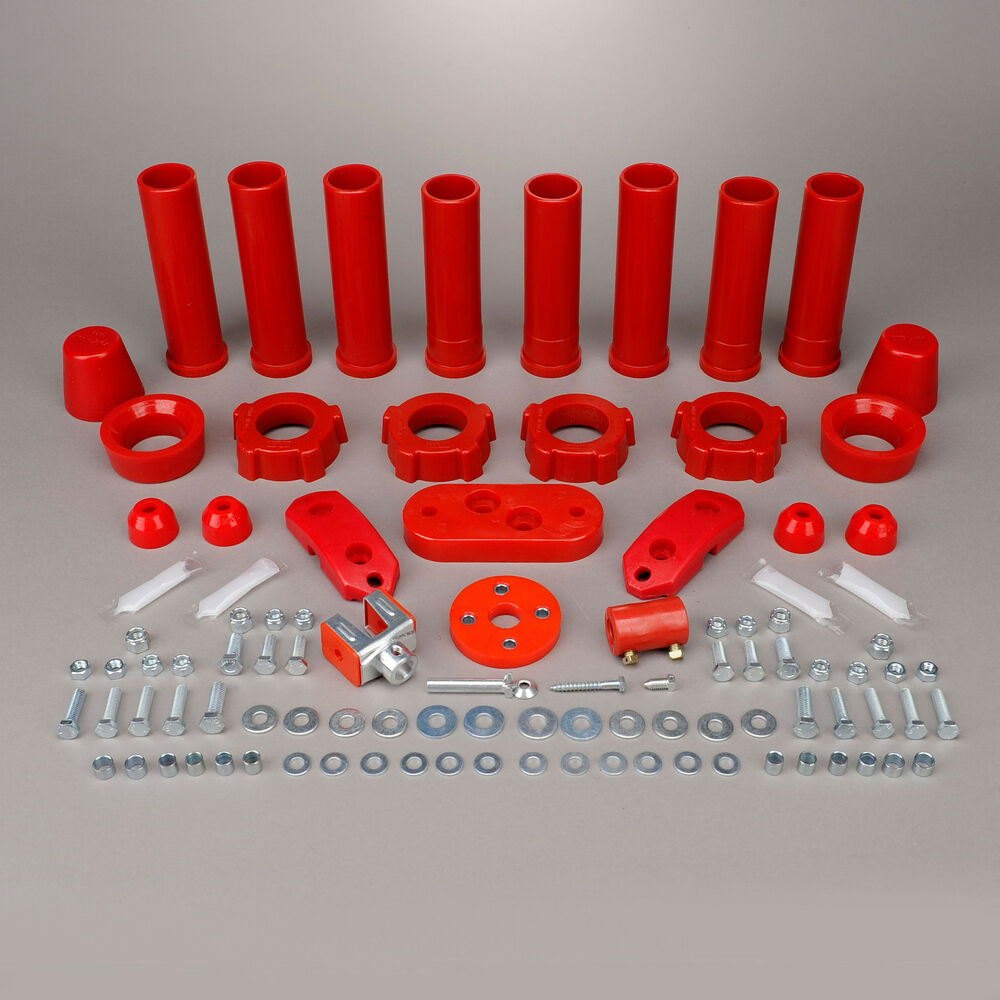hight resolution of details about 1959 1965 volkswagen beetle ghia red urethane suspension bushing kit 308037
