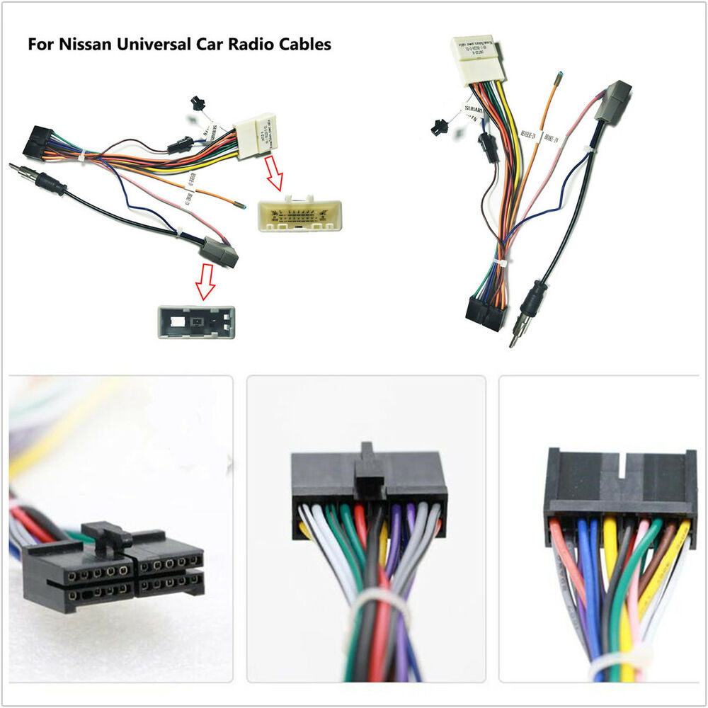 hight resolution of details about for nissan android stereo dvd player 20 pin wire harness connector adapter cable