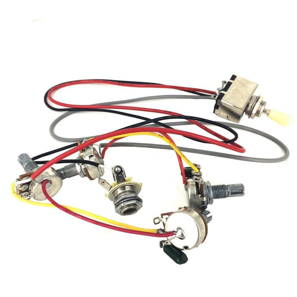 medium resolution of details about gibson lp guitar wiring harness prewired 3 way toggle switch 500k pots