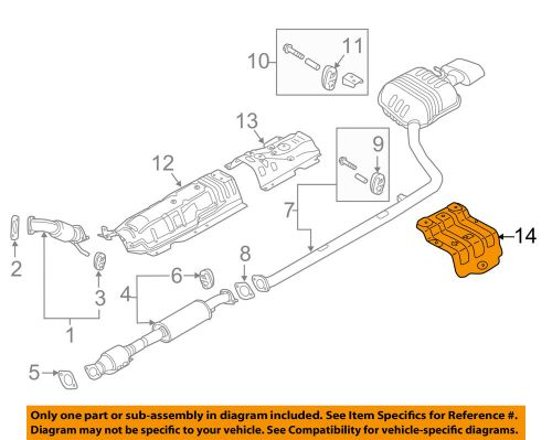 small resolution of details about hyundai oem 15 18 sonata 2 4l l4 exhaust heat shield 28796c1000