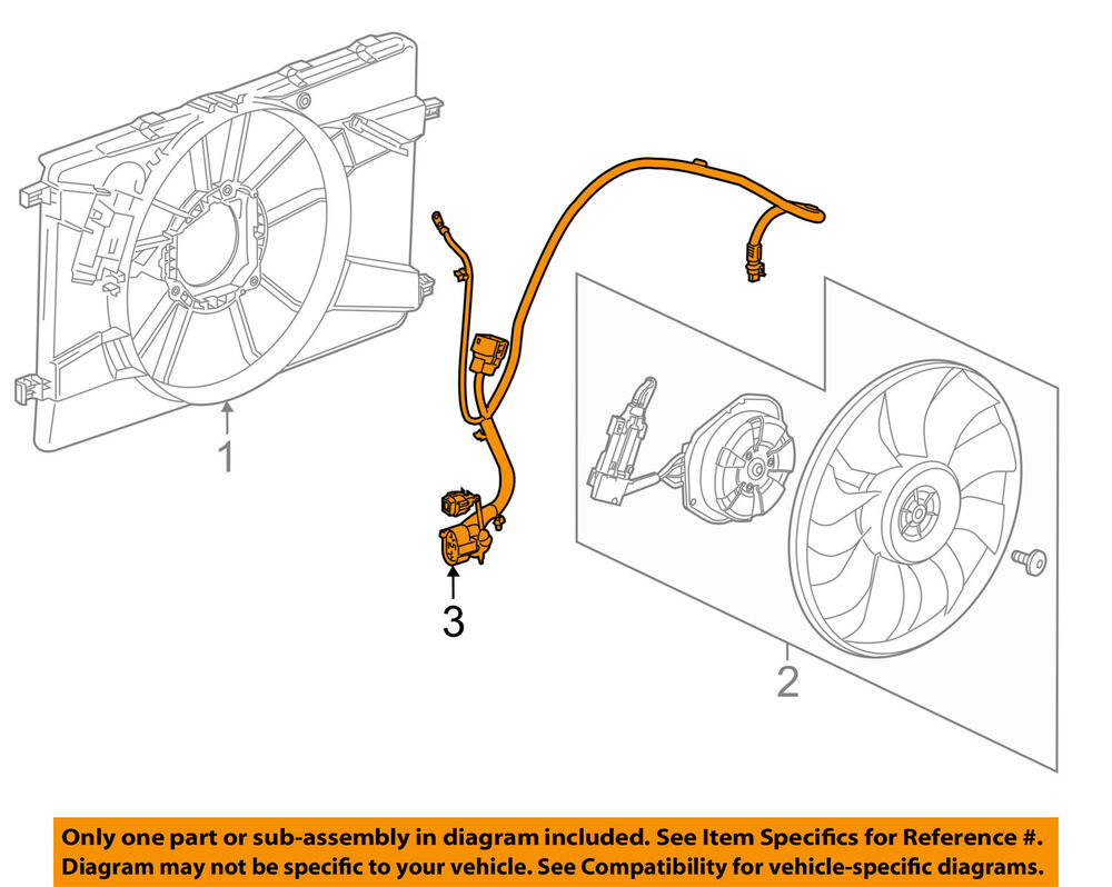 hight resolution of details about chevrolet gm oem 14 15 cruze 2 0l l4 engine cooling fan wiring harness 94556236
