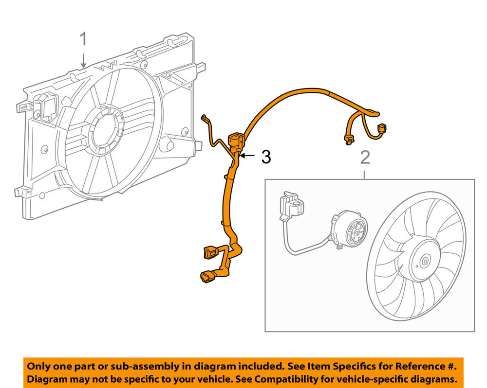 medium resolution of details about chevrolet gm oem 11 15 cruze 1 4l l4 engine cooling fan wiring harness 94556239