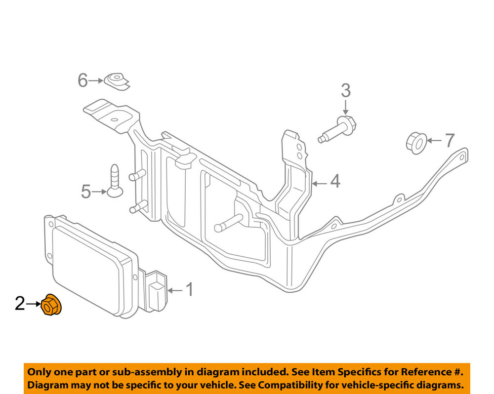 hight resolution of details about ford oem cruise control system distance sensor grommet w790214s300
