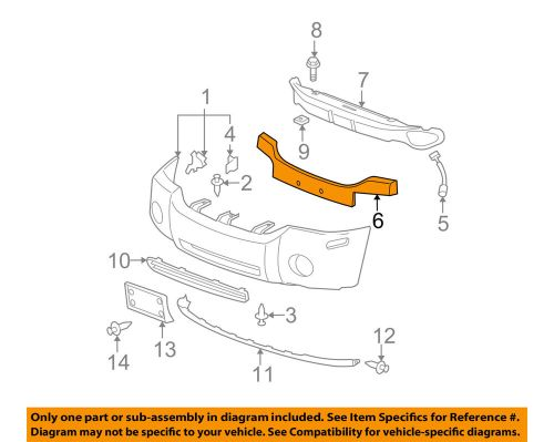 small resolution of details about gmc gm oem 05 09 envoy front bumper spacer support bracket 89046024