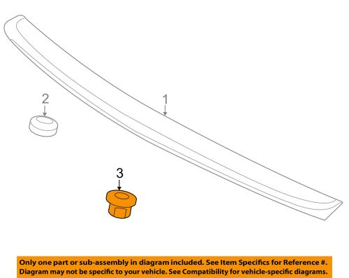 small resolution of details about kia oem 08 11 rio5 spoiler mounting nut 8722125510