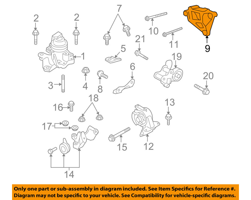 medium resolution of details about mazda oem 07 15 cx 9 engine front mount bracket gs4h39031a