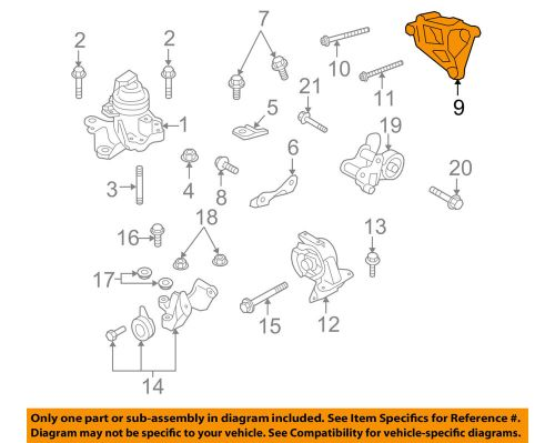 small resolution of details about mazda oem 07 15 cx 9 engine front mount bracket gs4h39031a