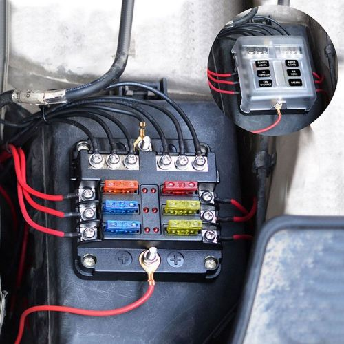 small resolution of details about 12v 24v 6 way blade fuse box block holder led indicator car auto boat marine